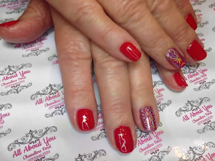 #stamped #fireworks #youplate #accent #nail with #unicorn #dusting