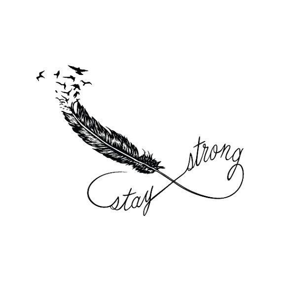 Alojarte a fuerte tatuaje temporal juego de 2 por Tattify en Etsy