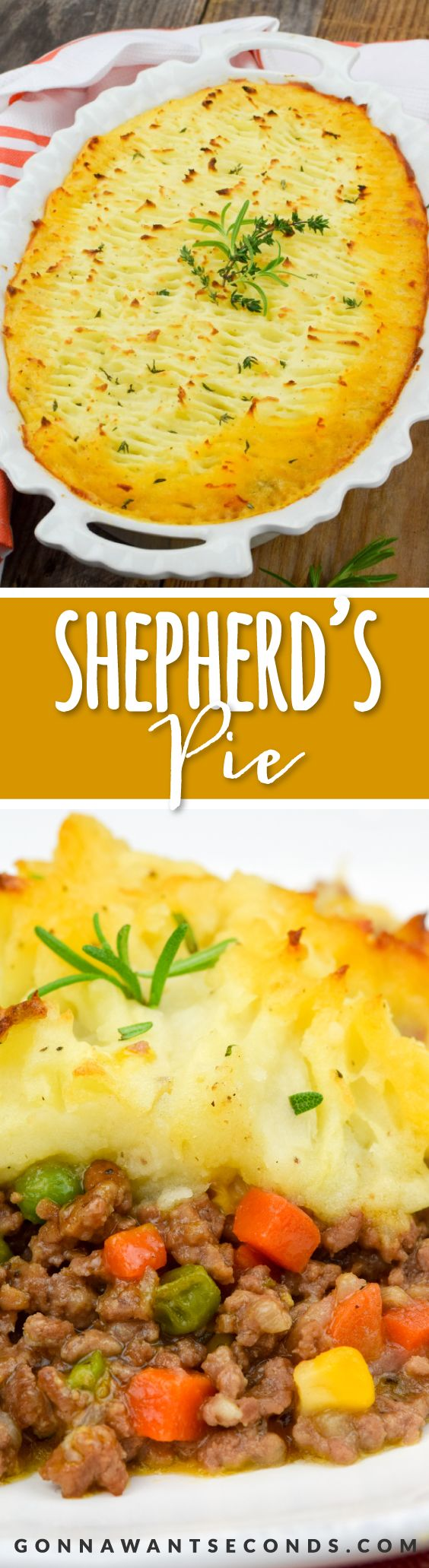 Shepherd's pie is an incredible comfort food. Delicious, super flavorful meaty filling topped with a mound of rich, buttery mashed potatoes!