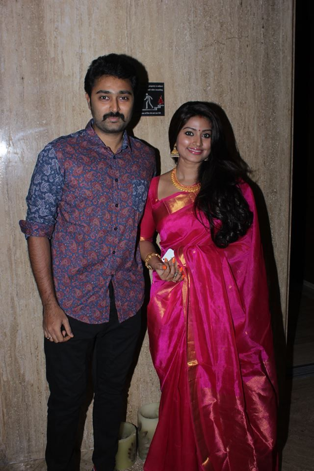 Sneha With her husband Prasanna at Vj Ramya Wedding Reception