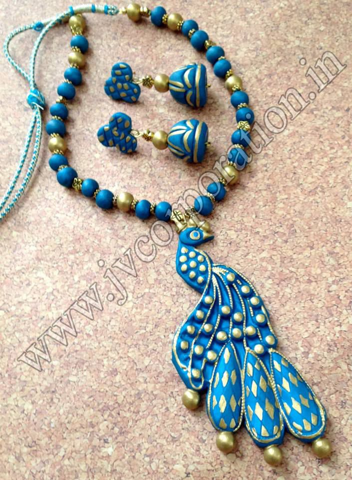 Buy now latest hand made terracotta jewellery necklace !