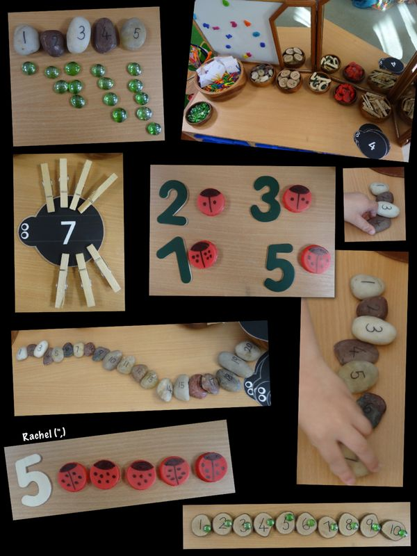 "Counting with snakes, spiders and ladybirds - from Rachel ("",)"