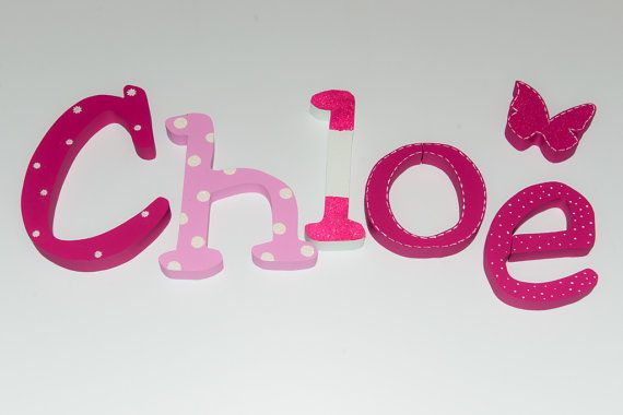 Personalised name 3D letters styrofoam painted by CraftbyKate7