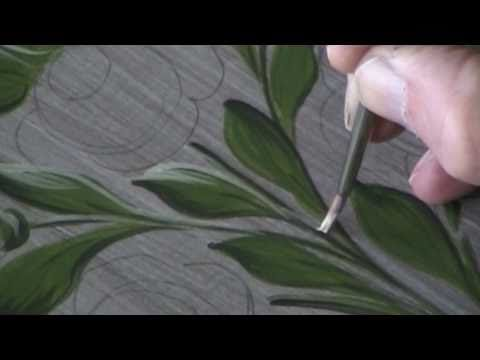 Shading Leaves - Bauernmalerei, Decorative Painting & Tole Painting Lesson - YouTube