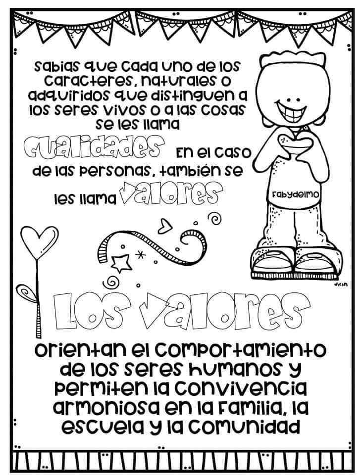 Pin De Kasty García En Cívica Y ética Etiquetas Preescolares Lectura De Comprensión Educacion Emocional
