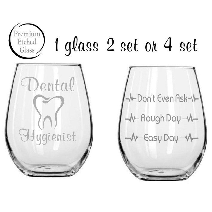 Etched glass,Etched Dental Hygienist,Good day Bad day glass,Etched wine glasses,birthday gifts,Funny glass,Gifts,Etched gifts by MileStoneArtworks on Etsy