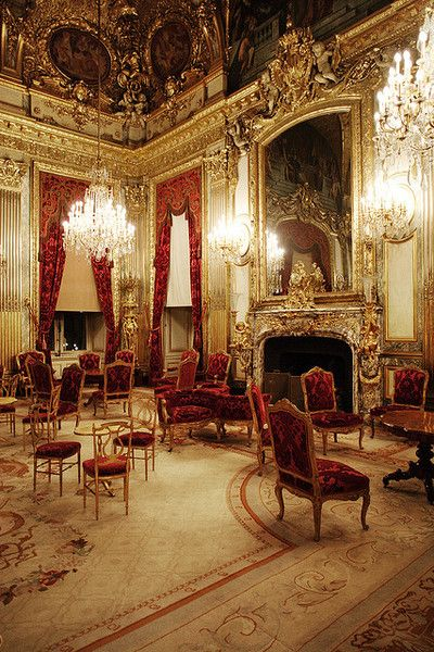 Napoleon's apartment preserved in the Louvre. Find this Pin and more on Baroque  Style Interior ...