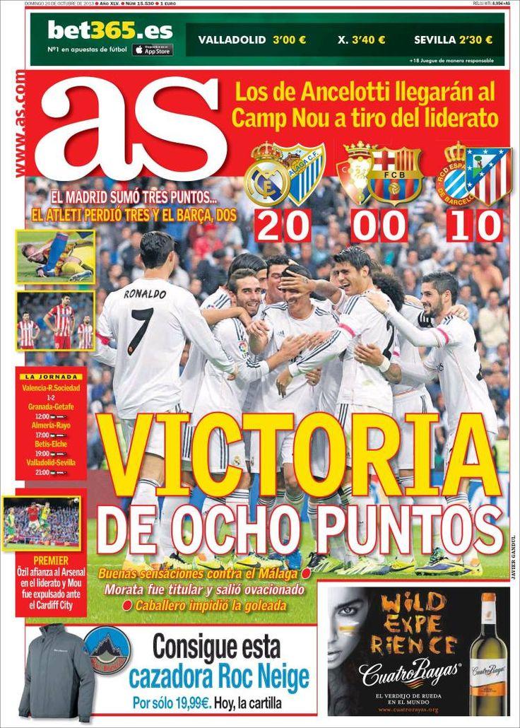 Los Titulares y Portadas de Noticias Destacadas Españolas del 20 de Octubre de 2013 del Diario Deportivo AS ¿Que le pareció esta Portada de este Diario Español?