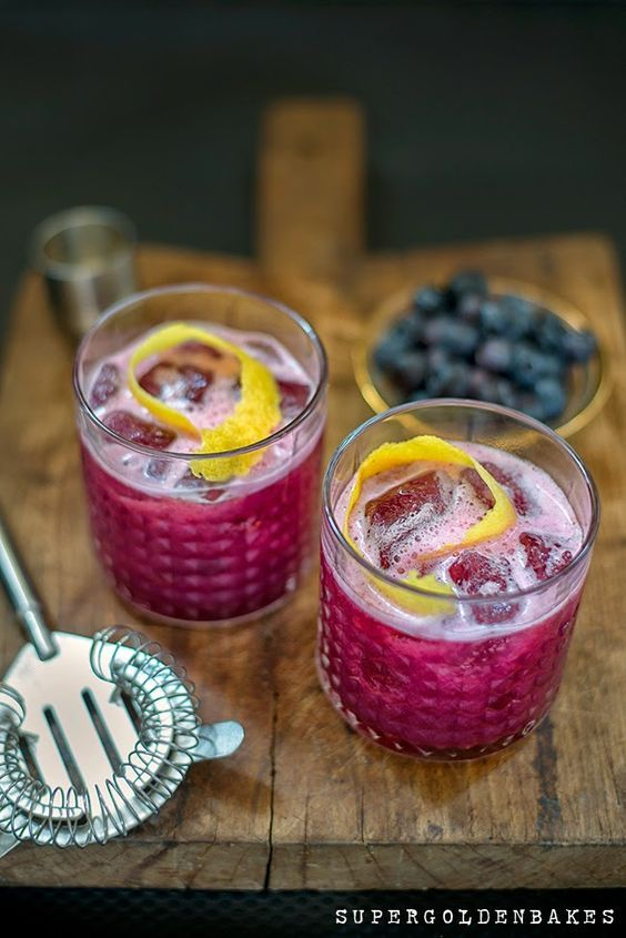 Blueberry Gin Sour: Make the most of blueberry season by adding them into everything—including your cocktails.