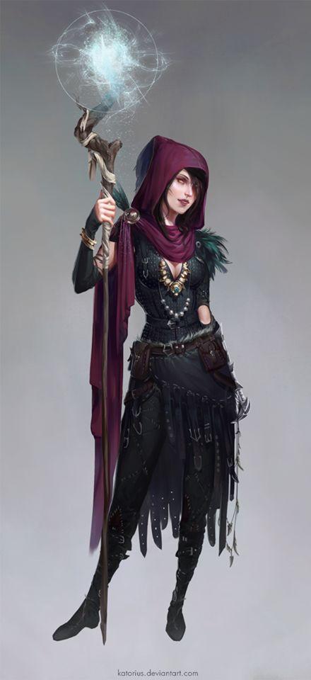 Dragon Age Origins Morrigan Pratical Outfit Concept Art