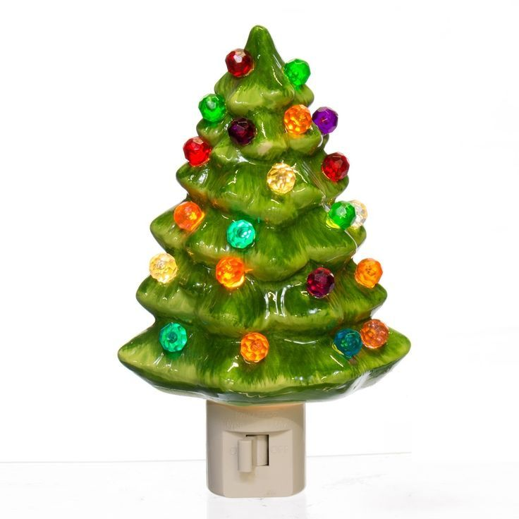 ceramic christmas tree night light - Christmas Tree Night Light