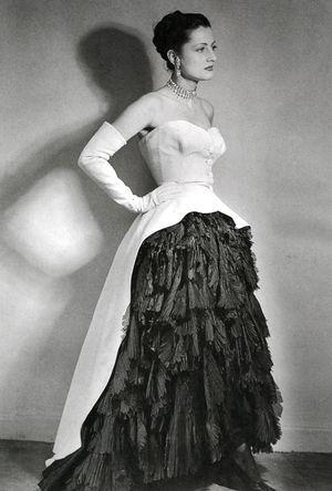 Cristobal Balenciaga - Jupe bustier et sur jupe - 1951