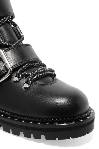 Jimmy Choo - Breeze Studded Leather Ankle Boots - Black