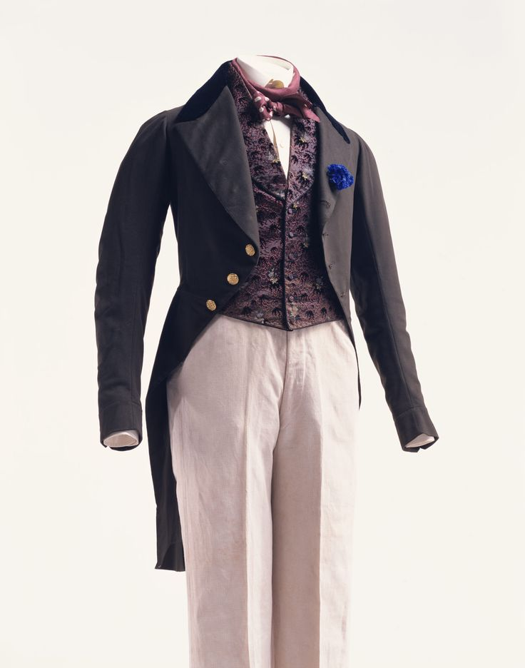 1840s mens fashion detail of collections 1820s1840s