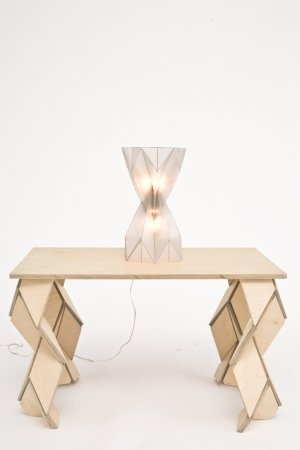Origami Table and Lamp