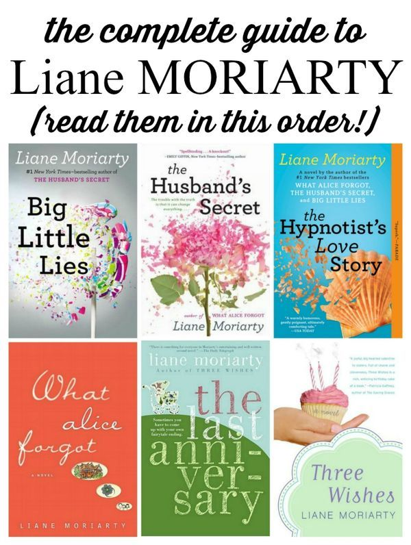 The complete guide to Liane Moriarty novels. The ultimate beach reads that will leave you smiling.
