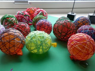 String Ball Ornaments {childcentralstation}