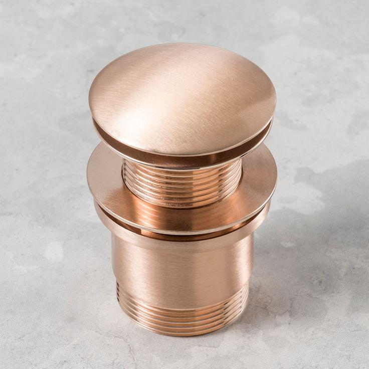 Rogerseller Standard Up & Down Waste No Overflow Rose Copper - Rogerseller
