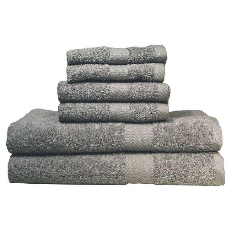 Baltic Linen Company Ultraspun Soft Absorbent 100% Cotton 6 pc. Towel Set Grey - 03531634100000
