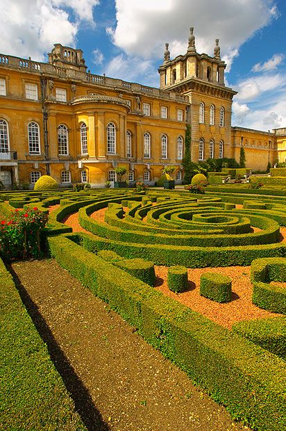 Blenheim Palace in Oxfordshire, England - Built in the early 18th century and surrounding by 2,000 acres of parkland, also is the birthplace of Sir Winston Churchill