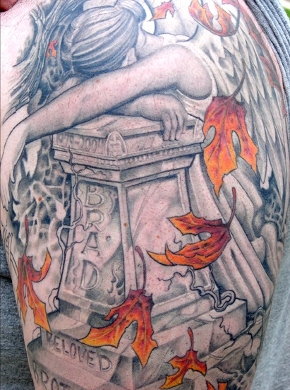 Tommy Helm - Tattoo artist came in 2 place on Ink Masters 2012  Amazing artist. This is one of the most powerful tattoo's I have ever seen. I am moved by it.