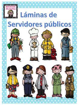 Laminas De Los Servidores Publicos Community Helper Communities Unit Preschool Education