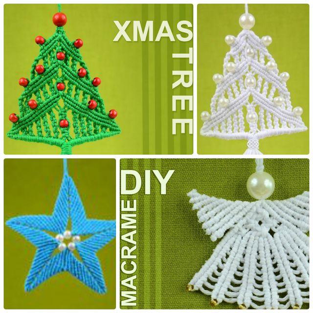 enrHedando: Como hacer 3 Diy Navidad de Macrame