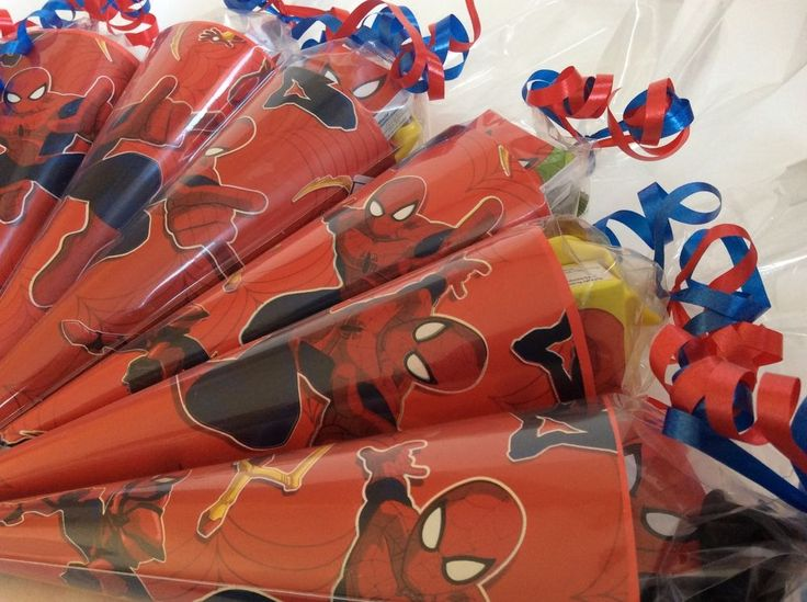 x1 Spiderman/Superhero/sweet cone/party cone/party bag/party supplies/favours