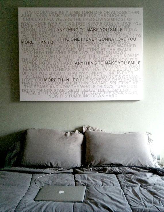 large canvas personalized faded greys lyrics