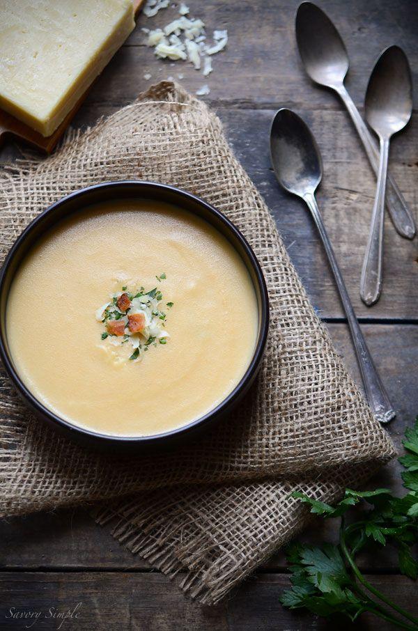Cheesy Potato Soup #recipe - Savory Simple - www.savorysimple.net