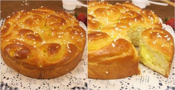 La torta di rose è un dolce soffice e profumato, ideale per essere gustato come merenda o a colazione. GLI INGREDIENTI 500g di farina per dolci 200 ml di latte 13g di lievito di birra 2 cucchi