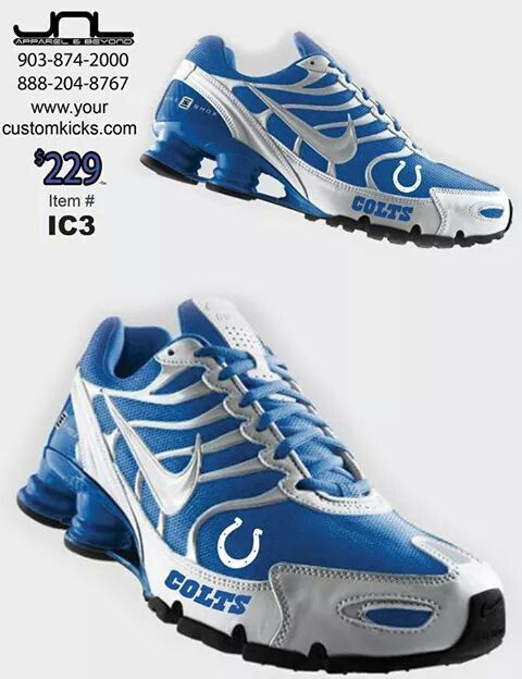 Custom Indianapolis Colts Nike Turbo Shox