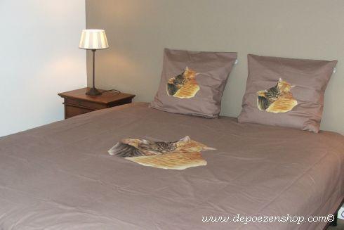 dekbedovertrekken met tekening van Franciens katten 100% hoge kwaliteit van katoen 2014 Franciens katten http://www.depoezenshop.com