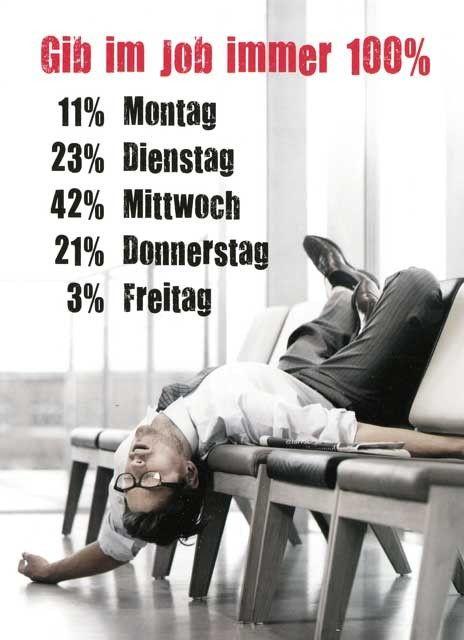 Postkarte Mit Lustigen Sprüchen U2013 Gib Im Job Immer 100% Postkarten Lustige  Sprüche