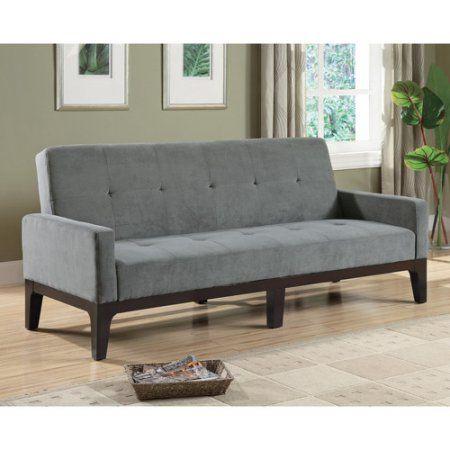 Coaster Durable Microfiber Sofa Bed, Grey, Gray