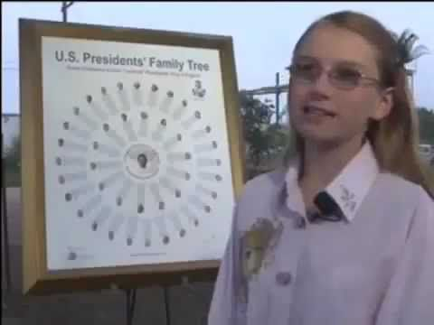 12 yr Girl Discovers ALL U.S. Presidents Except One Related to One British King.  Also - all related to each other.....