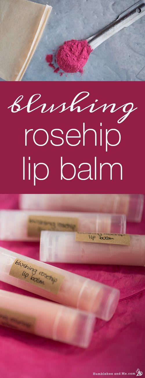 How to make Blushing Rosehip Lip Balm