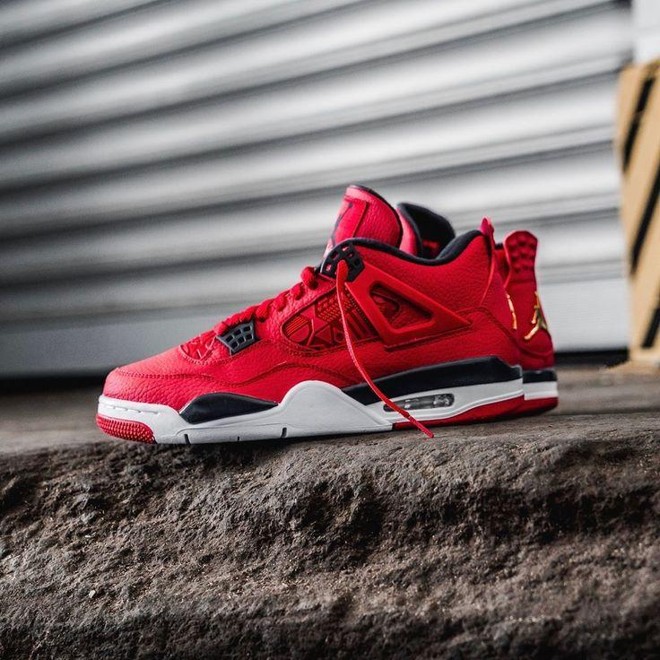 Nike Air Jordan 4 Herren-/ Frauenschuh rot