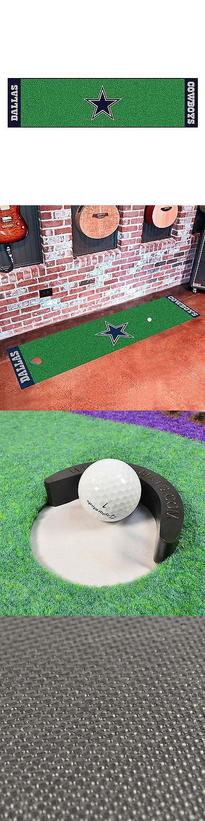 Putting Greens and Aids 36234: Nfl Indoor Golf Putting Green Realistic Mat Cowboys Durable Nylon Training Tool -> BUY IT NOW ONLY: $54.92 on eBay!