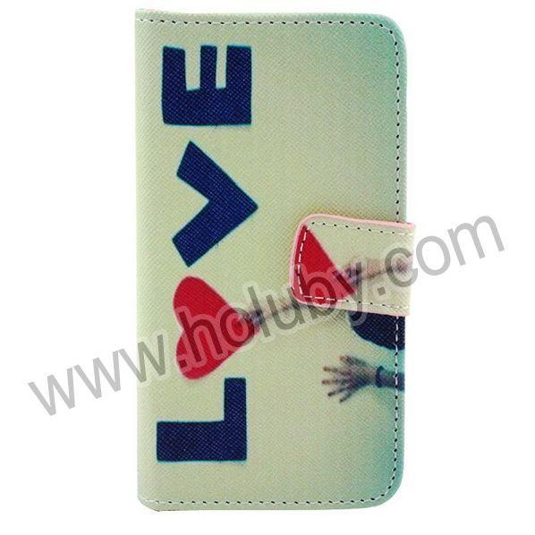 LIEBE Alphabets Quermuster-Magnetic-Mappen-Art-Standplatz Filp TPU   PU-Leder Tasche für iPhone 5C