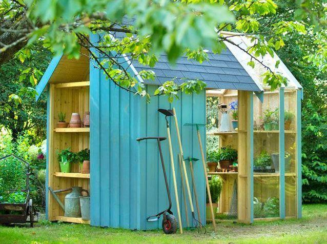 24 Abris Pour Votre Jardin Abris De Jardin Elle Decoration Mara Exterior Design Outdoor Structures Home Garden