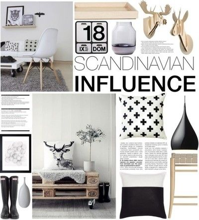Scandinavian Influence by emmy featuring black home decor ❤ liked on Polyvore&Tradition black light / Röshults outdoor decor, $215 / Modern accent pillow / Handmade home decor / Danese Formosa Calendar - Perpetual wall calendar, $235 / Muuto vase, $135 / Circle wall art, $56 / Moustache home wall decor, $81 / Moustache animal wall art, $285 / Black home decor / Ceramic home decor / Hunter rain boots, $155 / Crate and Barrel  kitchen island / by Rocba