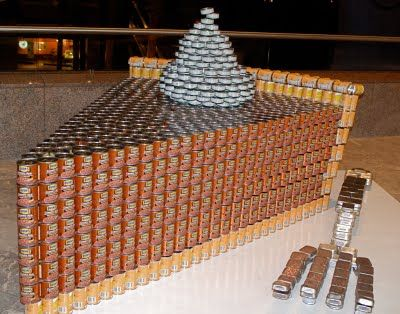 17 Best Images About Canned Food Sculptures On Pinterest