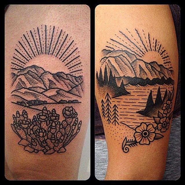 Christian lanouette montreal canada tattoos flash for Arizona desert tattoo