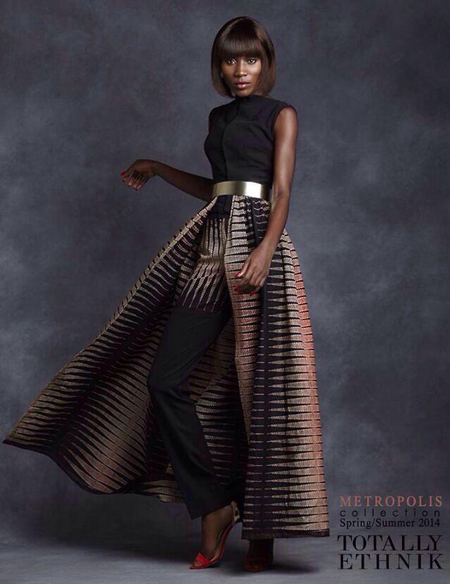 African fashion, skirt instead of slacks