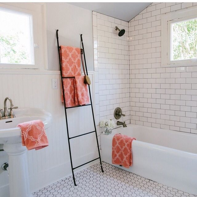 Joanna Gaines: HGTV. Master Bathroom. White Tile, Subway