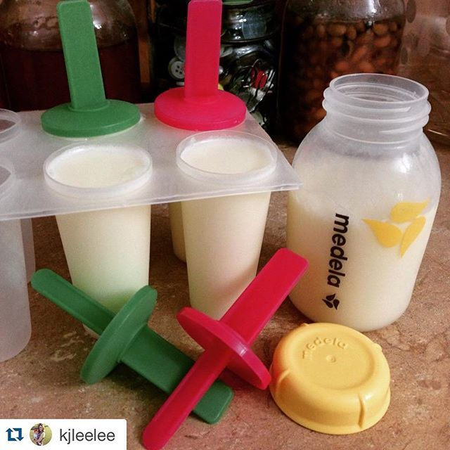 Teething baby? Pour breast milk into popsicle molds and freeze!