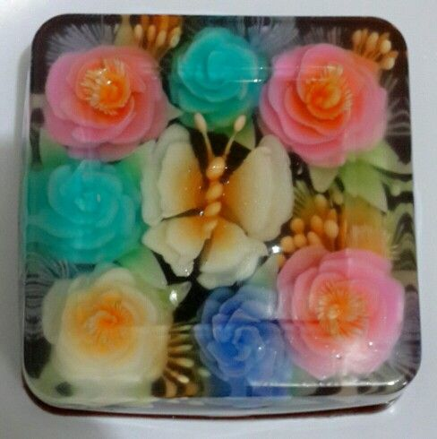 Jelly art  or pudding art