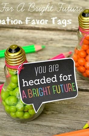 Graduation Favors made from light bulbs!  See more party ideas at CatchMyParty.com!