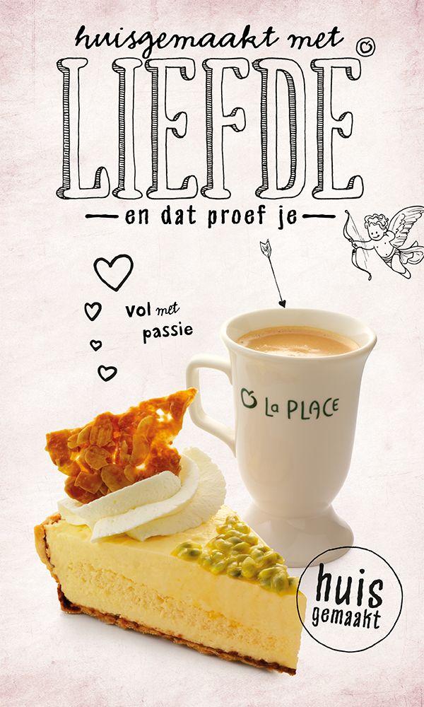 Passievruchtenbavaroise en vruchtensaus met een kopje koffie, mmmm... #passie #passievrucht #bavaroise